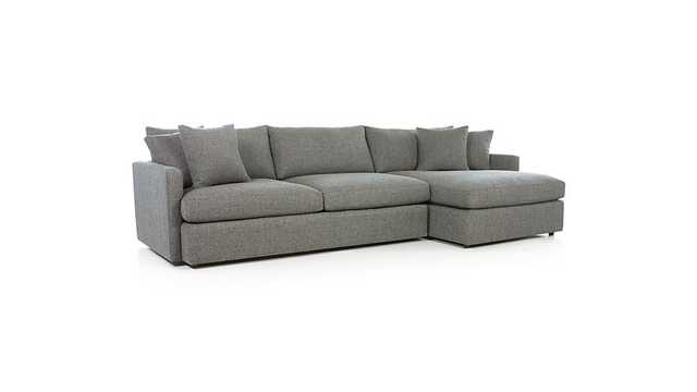 Lounge II 2-Piece Sectional Sofa - taft steel - Crate and Barrel