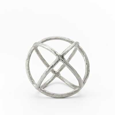 Sculpture Sphere, Silver, Small - West Elm