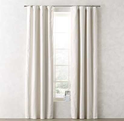 "Linen-Cotton Drapery Panel - Warm White - 96""l x 50""w - RH Teen"