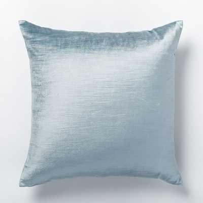 Cotton Luster Velvet Pillow Cover - Dusty Blue - West Elm