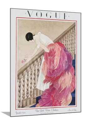 "VOGUE COVER - NOVEMBER 1924 - 30"" x 40"" wood mount - art.com"