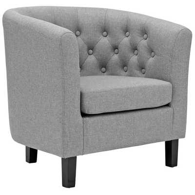 PROSPECT UPHOLSTERED ARMCHAIR IN LIGHT GRAY - Modway Furniture