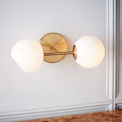Staggered Glass Sconce - Double - West Elm