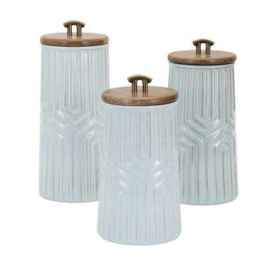 Tia Canisters - Set of 3 - Mercer Collection