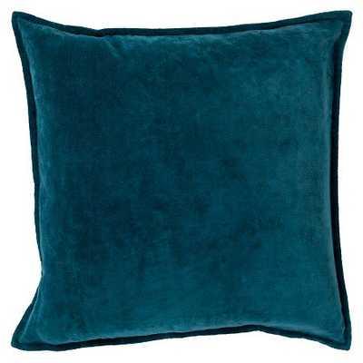Cotton Velvet Toss Pillow - Teal - 18 x 18 - Polyester Fill - Target