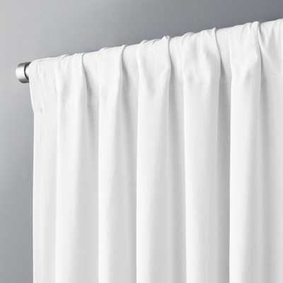 "White Basketweave II Curtain Panel 48""x96"" - CB2"