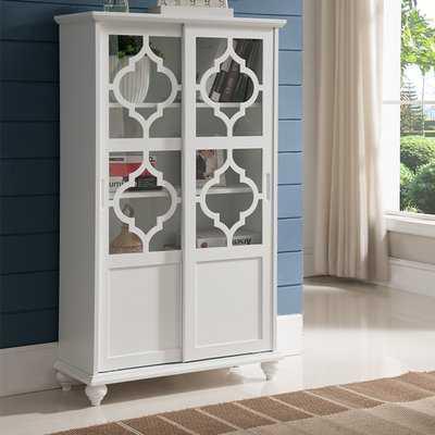 Wilhelmine Wood Curio Cabinet - Wayfair