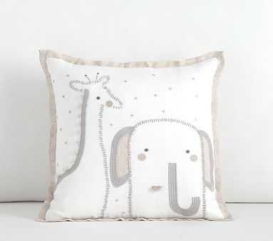 Baby Animal Decorative Pillow, 12x12 Inches - Pottery Barn Kids