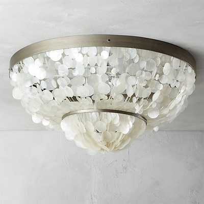 capiz flush mount lamp - CB2