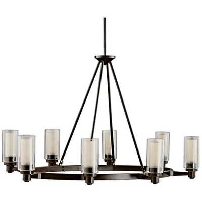 """Circolo Collection Olde Bronze 35 1/2"""" Wide Oval Chandelier - Lamps Plus"""