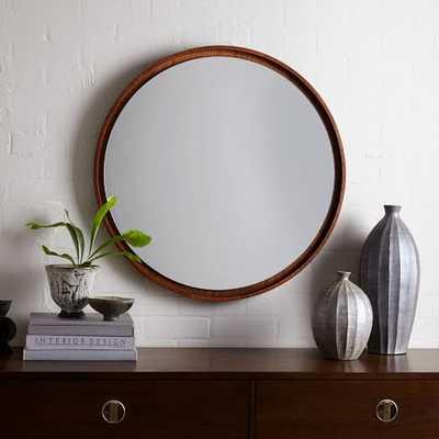 Floating Round Wood Mirror - Acorn - West Elm