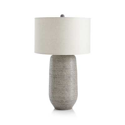 Cane Grey Table Lamp - Crate and Barrel