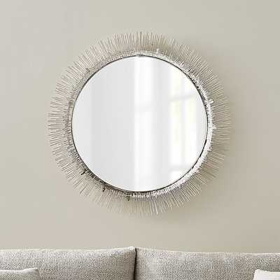 Clarendon Large Round Wall Mirror - Crate and Barrel