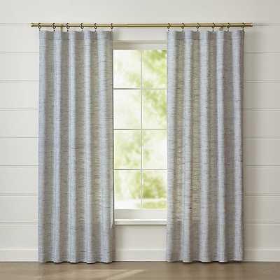 "Reid Blue Curtain Panel - 84"" - Crate and Barrel"