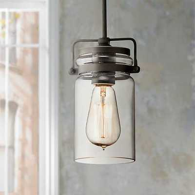 "Kichler Brinley 4 3/4"" Wide Olde Bronze Mini Pendant - Lamps Plus"