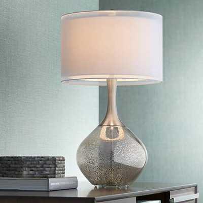 Possini Euro Design Swift Modern Mercury Glass Table Lamp - Lamps Plus