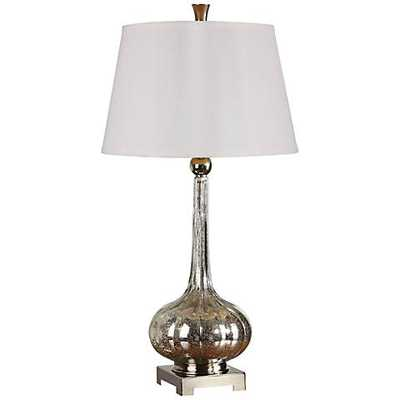 Uttermost Oristano Fluted Mercury Glass Table Lamp - Lamps Plus