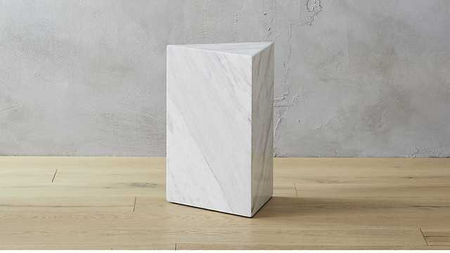 White Marble Side Table - CB2