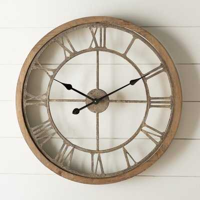 Natural Wood Wall Clock - Medium - Wayfair
