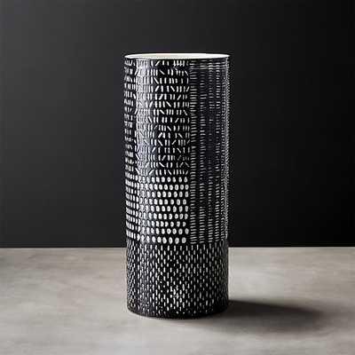 hash black and white vase - CB2
