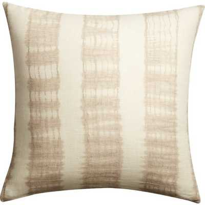 "23"" natural tie dye pillow with feather-down insert - CB2"