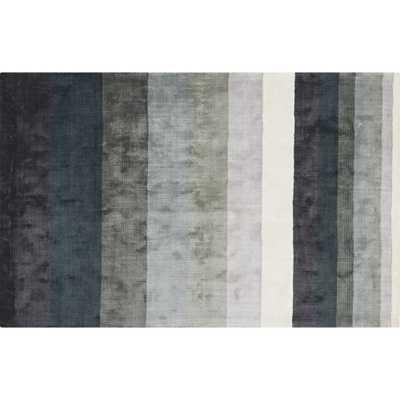 Tidal Hand Loomed Blue Grey Rug 5'x8' - CB2