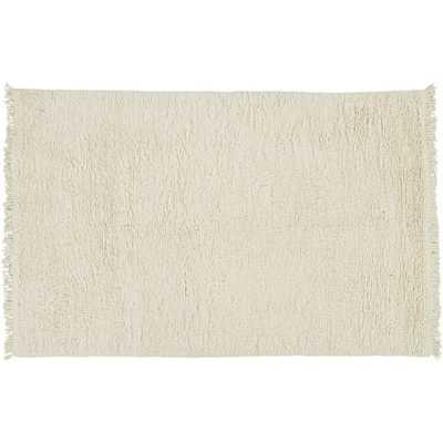 Plush Wool Shag Ivory Rug 5'x8' - CB2