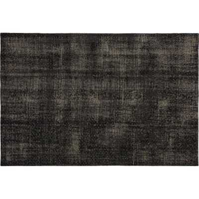 The Hill-Side Disintegrated Floral Grey Rug 6'x9' - CB2