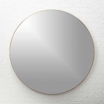 "infinity copper round wall mirror 48"" - CB2"