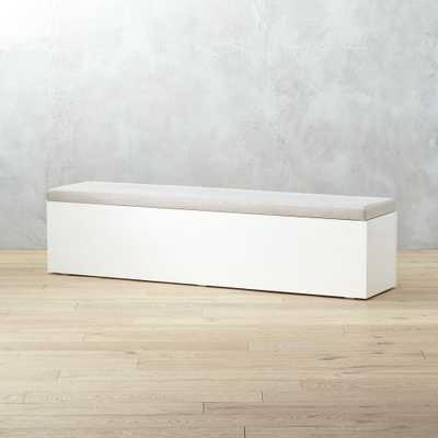 Catch-All Large White Storage Bench - CB2