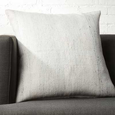 "23"" Rook Ivory Pillow with Feather-Down Insert - CB2"