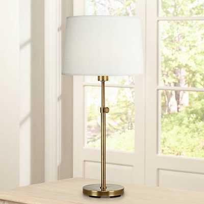 Robert Abbey Koleman Adjustable Aged Brass Club Table Lamp - Lamps Plus