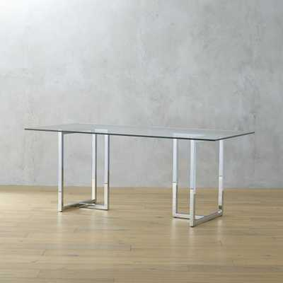 """silverado chrome 72"""" rectangular dining table"" - CB2"