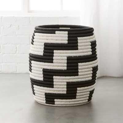 Tatum Black and White Basket - CB2