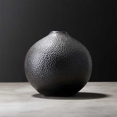 Shagreen Black Vase - CB2