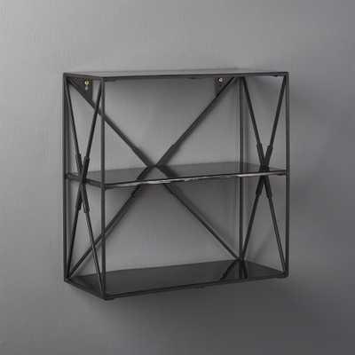 Smith Small Black Wall Shelf - CB2