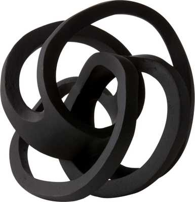 "Infinity Black Knot Sculpture - 9""H - CB2"