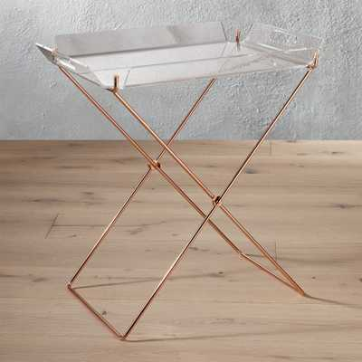 acrylic tray table - CB2