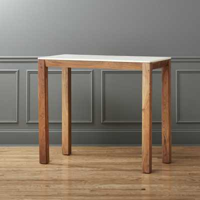 palate marble high dining table - CB2
