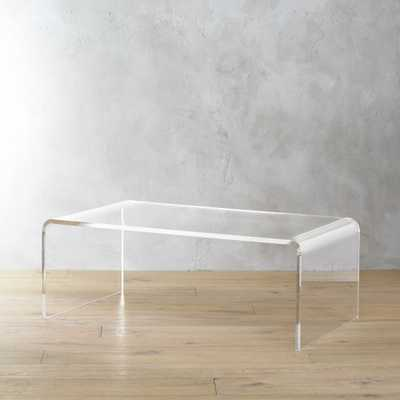 peekaboo acrylic tall coffee table - CB2