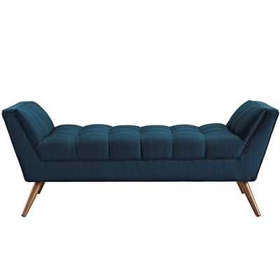 RESPONSE MEDIUM FABRIC BENCH IN AZURE - Modway Furniture