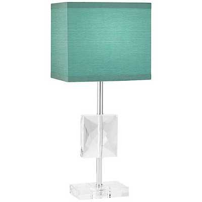 "Clara 18"" high Donna Crystal Teal Blue Accent Table Lamp - Lamps Plus"