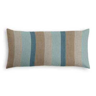 Outdoor Lumbar Pillow  Sunbrella® Gateway - Mist - Loom Decor
