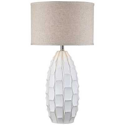 Possini Euro Jetson White Ceramic Table Lamp - Lamps Plus