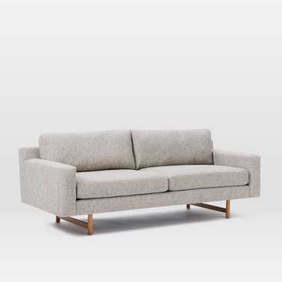 "Eddy Sofa (82"") - DECO WEAVE, FEATHER GRAY - West Elm"