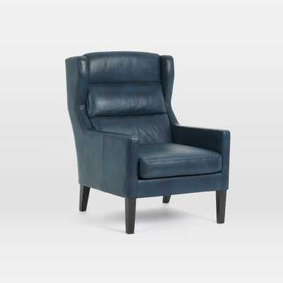 Clarke Leather Wing Chair - West Elm