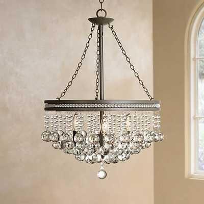 """Regina Olive Bronze 19"""" Wide Crystal Chandelier - Lamps Plus"""
