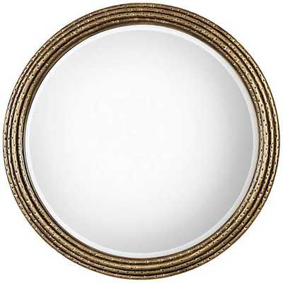 "Uttermost Spera Antiqued Gold 42 1/4"" Round Wall Mirror - Lamps Plus"