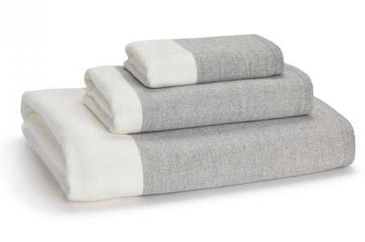 GREENWICH COLOR BLOCK COTTON BATH TOWEL - Kassatex