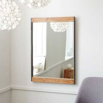 Industrial Metal + Wood Wall Mirror - West Elm
